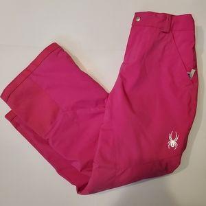 Spyder Girls Pink Ski Pants